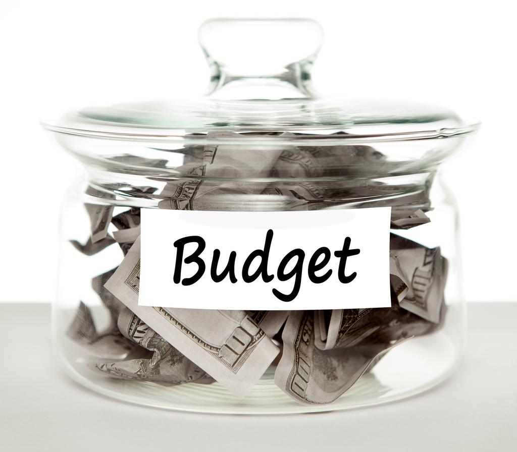 glass money jar for budget