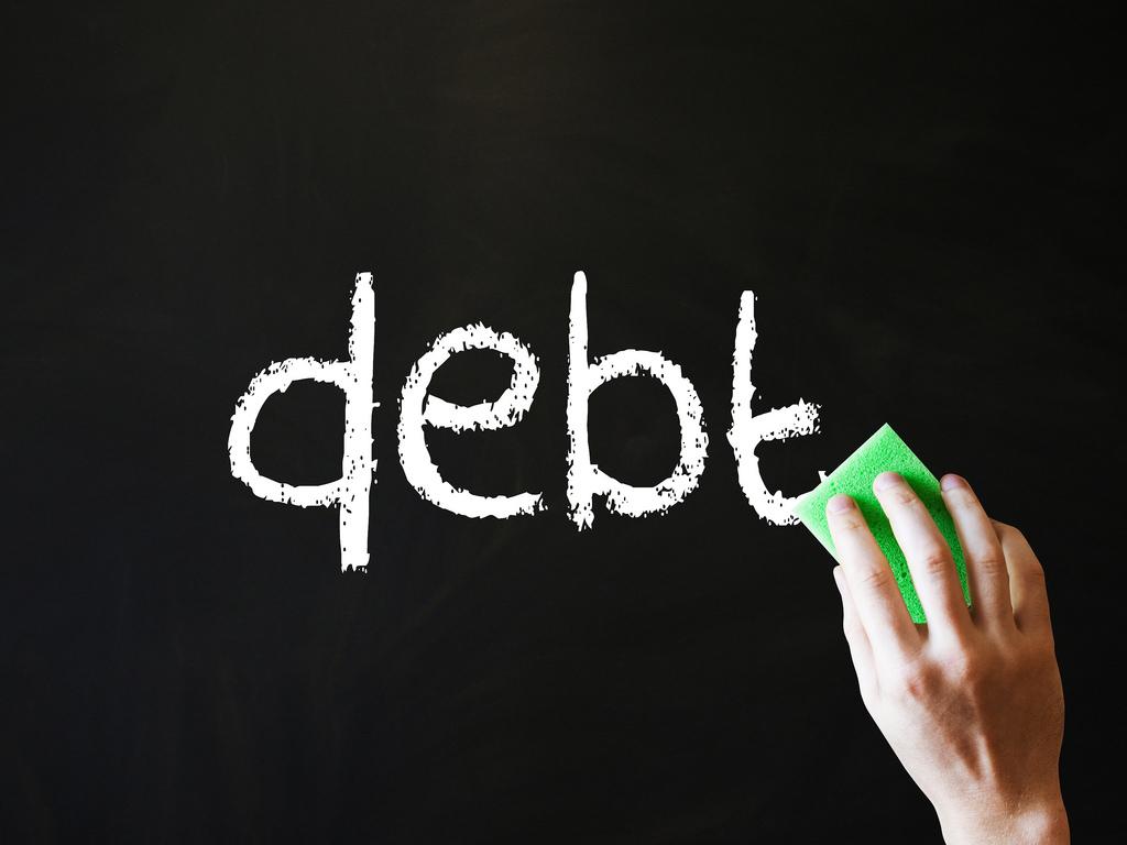 Erase Debt Chalkboard Image