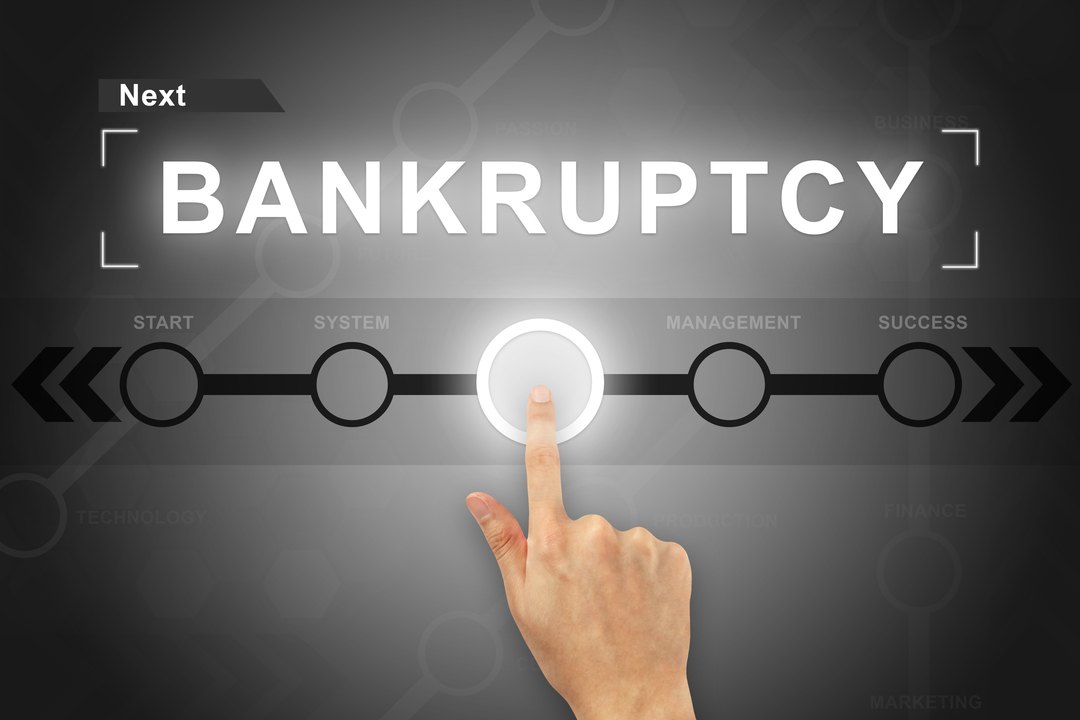 Bankruptcy Pushing Button