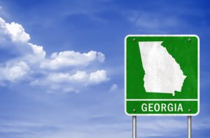 georgia outline on road sign