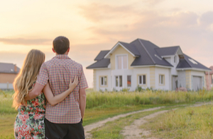 Couple looking at a home they are considering purchasing