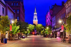 scenic view of downtown Burlington