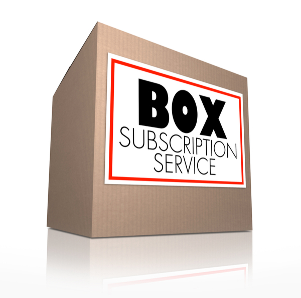 "box with label ""box subscription service"""