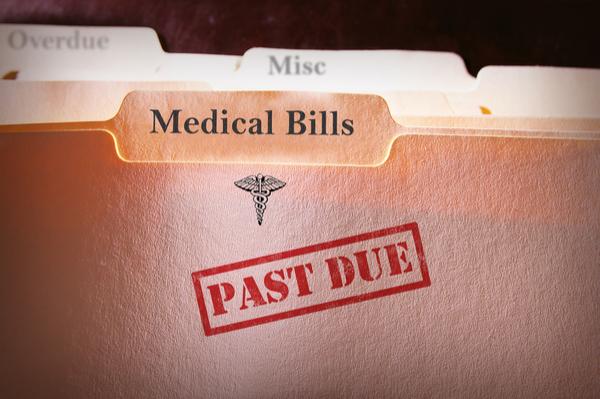 "file reading ""medical bills, past due"""